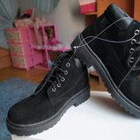 Ботинки для девочки и мальчика зимние замша, новые р, 35, 36, 37, 38
