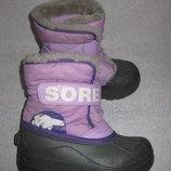 зимние термо сапоги сноубутсы Sorel, стелька 19 см, Канада
