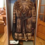 Пальто кожаное с соболем или Обмен