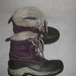 зимние термо ботинки, 21 см стелька, TheNorthFace, с мембраной, кожаные