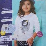 Регланы для девочек 1-6 лет фирмы LUPILU 2 штуки в упаковке