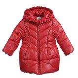 12м Пальто Mayoral теплое р80 съемный капюшон скарлет оригинал