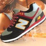 Мужские кроссовки New Balance 574 черн-хаки --41р-46р