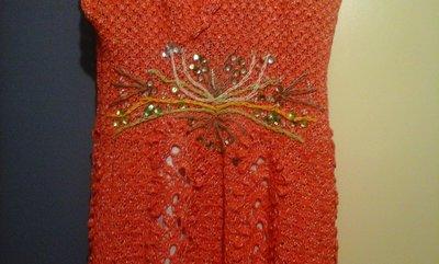 Очень красивое вязаное платье ручной работы - Новое