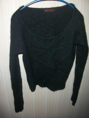 кофта свитер ангора чёрная для девочки