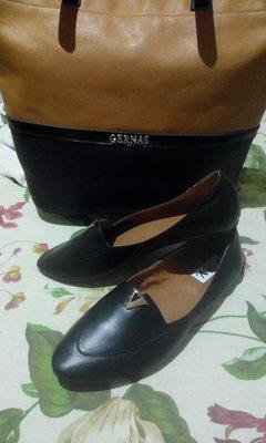 Новые кожаные мокасины 25,5 см