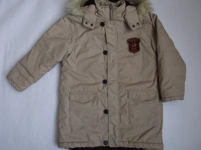 Курточка теплая для мальчика на рост 134 см CFL