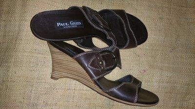 7-26 см кожа новые шлепанцы Paul Green Austria