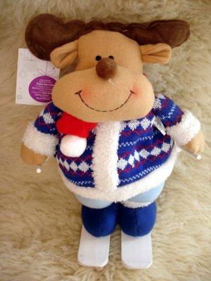 Шикарный большой олень на лыжах Новый год Николай новогогднее дом интерьер игрушка