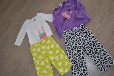 Теплые пижамки на девочку 2-3года. Америка