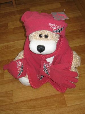 Новый яркий комплект шапка, шарф, перчатки Board Angel Kangaroo Англия , р. 5-9 лет