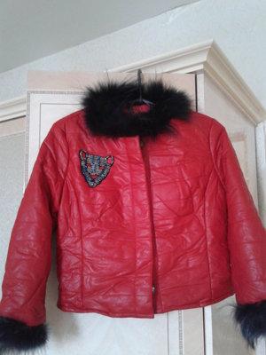 Куртка демисезонная утепленная из экокожи Yes Miss Италия