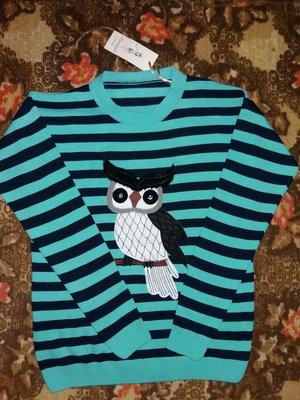 Свитер.пуловер.сова.48-50Р.l-Xl.