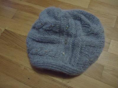 Шапка двойная, шарф -комплект молодежный
